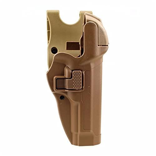 GY Funda táctica, Glock Militar Funda Tactical Glcok Cinturón Pistola Funda para Glock 17 19 22 23 32 32 Bronceado Bronce (Color : B)