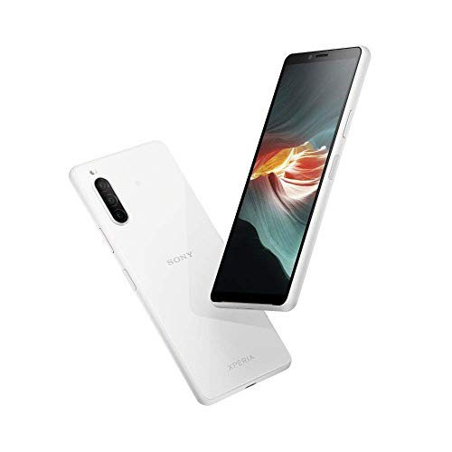 Sony Xperia 10 II Smartphone (15,7 cm (6 Zoll) Full HD+ OLED Display, Triple Kamera System, Android 10 SIM Free, 4 GB RAM, 128 GB Speicher, IP 65/68-Zertifizierung) Weiß