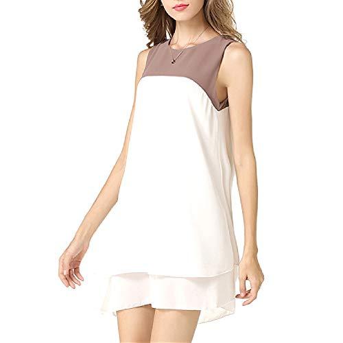 YHXY Ärmelloser, asymmetrischer Sommerblumenrock mit tiefem V-Ausschnitt für Frauen Sommerkleid Damen Casual Minikleid Damen Kurzarm enges Kleid