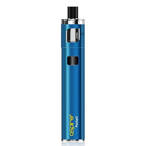 Aspire Pockex kit di avviamento per la tasca, 1500mAh 0.6 ohm U-Tech, AIO tutto in uno (Blu) NEW EDITION 2017 (caricamento micro USB sul lato), No Nicotina o tabacco
