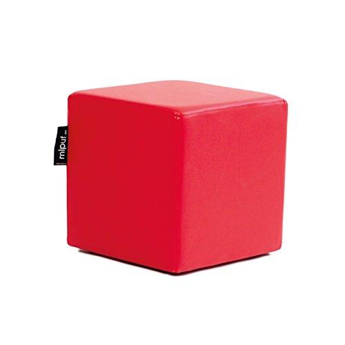 MiPuf - Puff Cube Original Tamaño 40x40x40 - Polipiel - Color Rojo