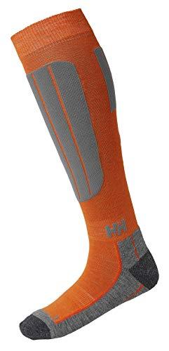Helly Hansen Herren Blue Alpine Socken, Bright Orange, 42-44