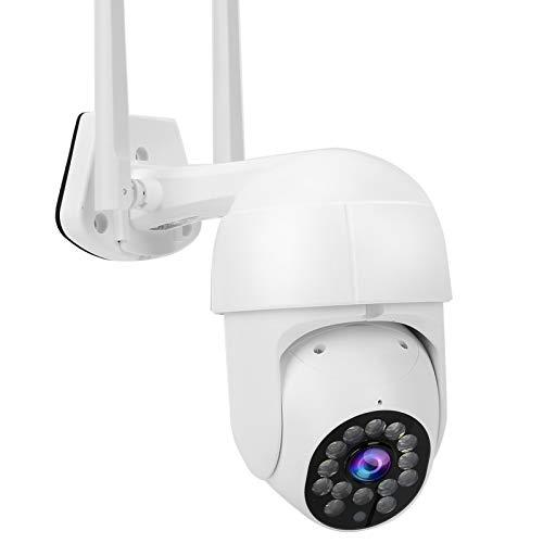 Cámara PTZ Wifi 1080P, Cámara de vigilancia CCTV impermeable IP66, Cámara IP Seguridad para el hogar, Visión nocturna con 14 luces, Detección de movimiento, Soporte para ONVIF(EU)