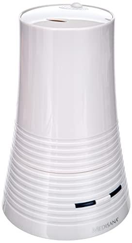 Medisana AH 662 Humidificador ultrasónico, purificador de aire para dormitorio y sala de estar, nebulizador con compartimento de aromas contra el aire seco, 4,5 litros