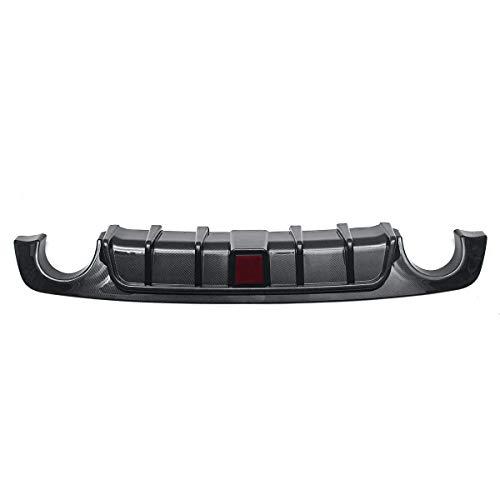 Ofgcfbvxd Auto-hintere Stoßstange Diffusor Carbon-Faser-Heckstoßstange Diffuser LED-Bremsleuchten Kompatibel Mit Infiniti Q50 2018 2019 (Farbe : Schwarz, Größe : M)