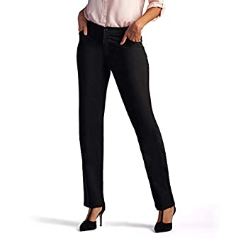 Lee Womenâ€s Relaxed Fit All Day Straight Leg Pant 16 Short Black