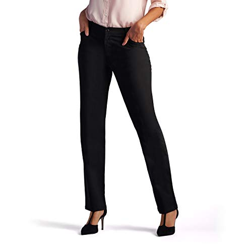Lee Womenâ€s Relaxed Fit All Day Straight Leg Pant, 18 Long, Black