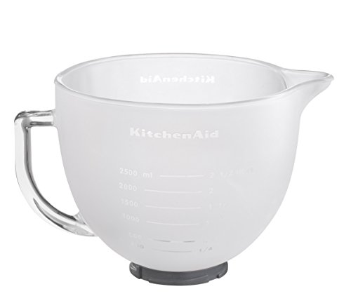 Kitchenaid 5KGBF Classic + Artisan K5Gbf 5K5FGB Milchglasschüssel, 4.83 L, Glas, Transparent
