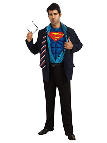 Adult Superman Clark Kent Fancy Dress Costume Standard