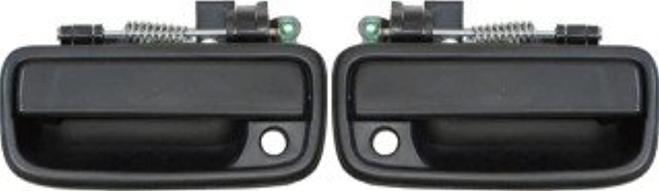 QP T1534/5-b Toyota Tacoma 4WD Black Passenger/Driver Front Outside Door Handle 2-pc Pair