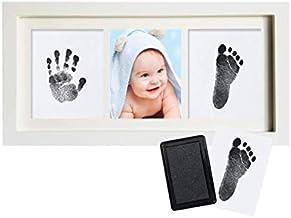 SKEIDO Baby Handprint and Footprint Frame Package - Baby Prints Photo Keepsake in White (Footprint Kit not include)