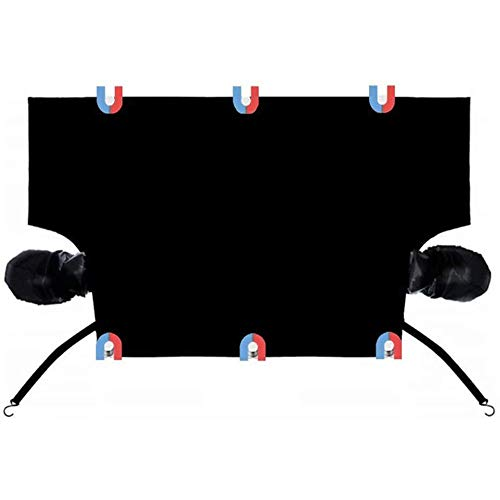 YIBOKANG Cubierta de parabrisas con cubierta de carro con cubierta de espejo cubierta de hielo cubierta de hielo pantalla frontal oxford polvo sol sombra cubierta UV encaja para automóviles (215 * 155