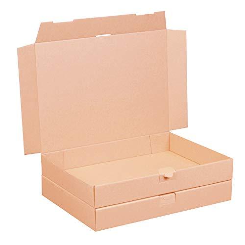 50 Maxibriefkartons 350 x 250 x 50 mm braun (50 Stück) DIN A4+ B4 Maxibrief Versandkarton für DHL DPD GLS Hermes Warensendung Büchersendung mit Steckverschluss