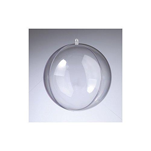Lot de 2 Boules en Plastique Cristal Transparent séparable, Contenant sécable diam. 14 cm