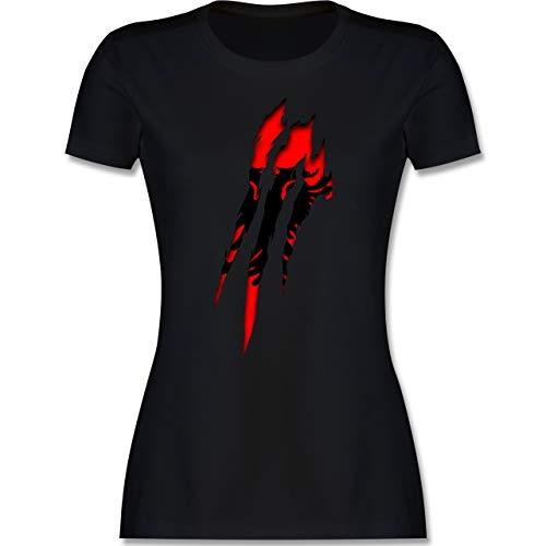 Länder - Albanien Krallenspuren - XXL - Schwarz - EM - L191 - Tailliertes Tshirt für Damen und Frauen T-Shirt