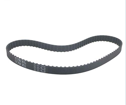X-BAOFU, 1pc/5pcs 174XL/176XL/178XL/180XL/182XL/184XL/186XL/188XL/190XL/192XL/194XL Timing Belt 10mm Width Rubber Gear Belt Toothed Pulley Belt (Color : 176XL, Size : 5pcs)