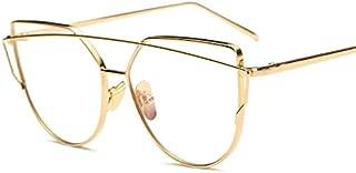 Vintage Cat Eye Glasses for Women Gold Frame Clear Lens Eyewear