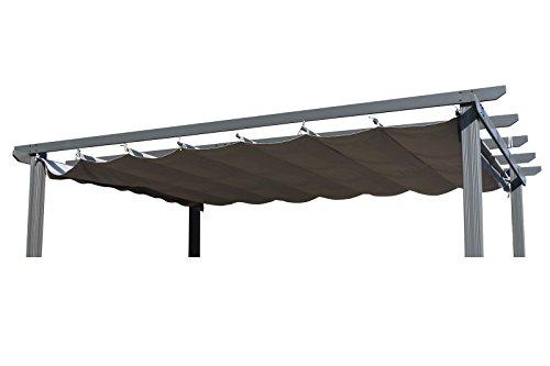 OUTFLEXX Ersatzdach für Pergola, Garten-Pergola in anthrazit, Pavillon aus Polyester Textil, universal und wasserabweisend, ca. 350 x 256 cm