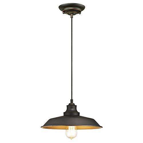 Westinghouse Lighting 6344700 Pendant, One Light, Oil Rubbed Bronze/Bronze