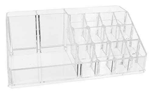 Kosmetik-Organizer Make-up-Organizer, Sortierkasten für Beautyprodukte, transparent (22,3 x 12,7 x 8 cm)