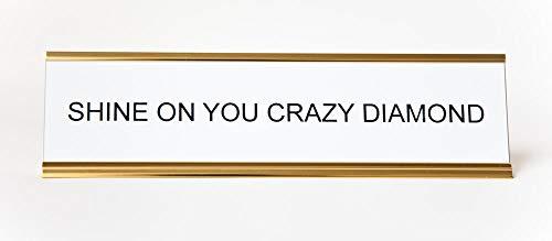 Placa de identificação He Said, She Said Shine On You Crazy Diamond 5 x 20 cm