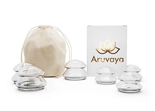 ARUVAYA® [6 pièces] - Set de ventouses en silicone haut de gamme pour massage sous vide. Ces ventouses médicales sont idéales pour anti cellulite, ten