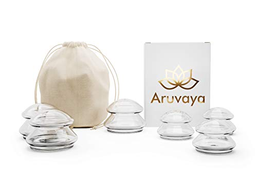 ARUVAYA® [Pack of 6] – Premium Silicone Cupping Set for Vacuum Massage. Medical suction cups/cupping glasses/cups, optimal against cellulite and tension, and for cupping in...