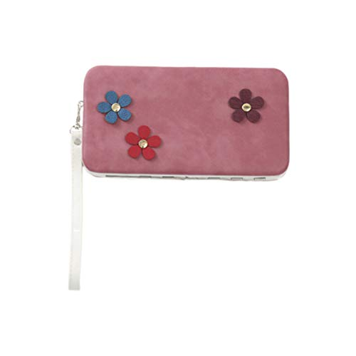 TENDYCOCO 1 Pc Sac à Main Grande Capacité Durable Pochette D'embrayage Givré Horizontal Sac à Main pour Fille Femmes Dame (Rose)