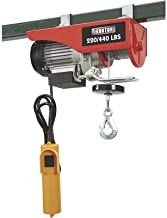 Ironton Electric Cable Hoist -220-Lb. Single-Line Capacity, 440-Lb. Double-Line Capacity, 40ft./20ft. Lift Height