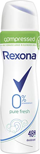 Rexona Deospray compressed Pure Fresh ohne Aluminiumsalze, 75ml, 6er Pack (6 x 75ml)