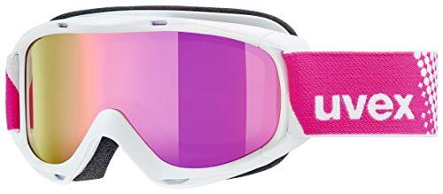 uvex Unisex Jugend, slider FM Skibrille, white, one size
