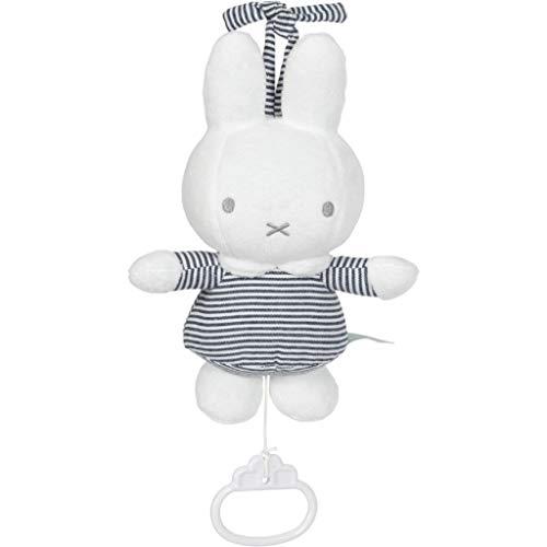Tiamo NIJN558 Miffy Hase ABC Spieluhr gestreift weiß grau