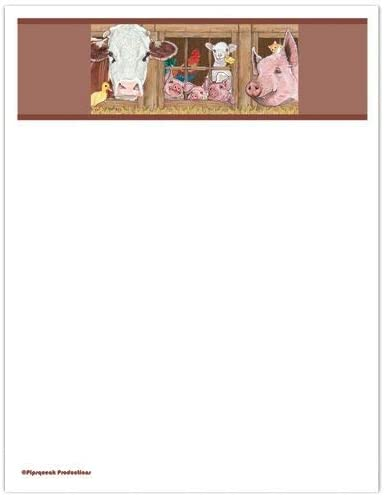 Animal Theme Excellence Gifts Barnyard Large Set Sale Stationery