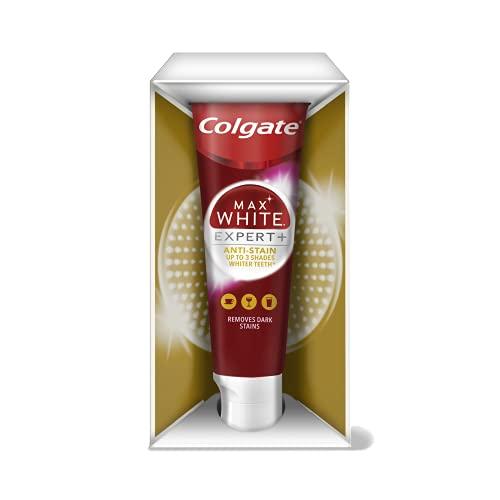 Colgate Zahnpasta Max White Expert Anti-Stain 75ml, bis zu 3 Zahnfarbtöne weißere Zähne*, mit Whitening-Inhaltsstoffen
