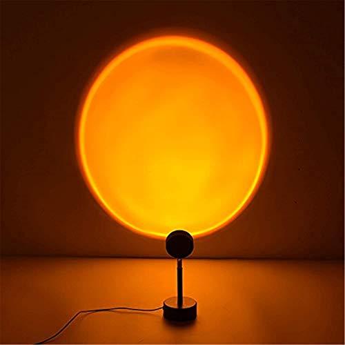 WQY Proyector De Luz Nocturna Lámpara LED, Lámpara De Proyector De Puesta De Sol Arcoíris Atmósfera Luz De Noche LED Barra De Hogar Tienda De Café Fondo Decoración De Pared,Sunset