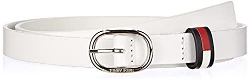 Tommy Jeans Damen TJW OVAL 2.0 Belt Gürtel, White, 85
