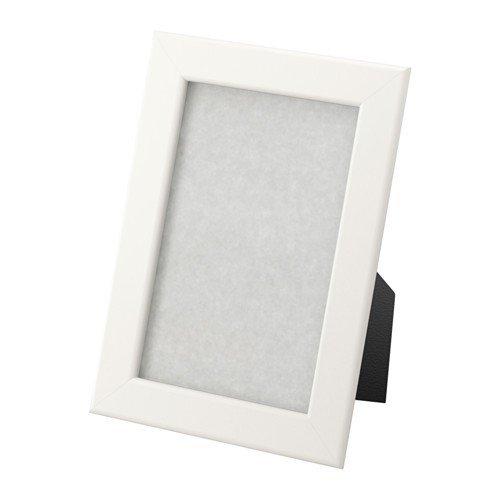 IKEA FISKBO Rahmen in weiß; (10x15cm); 5 Stück