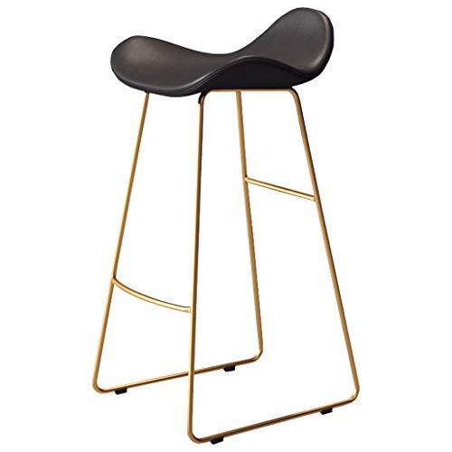 Tabourets de Bar en Plastique à Arc Moderne, Hauteur d'assise 65CM / 70CM / 75CM, Chaise de Jambes en métal doré pour Petit déjeuner de Cuisine pour café, Bar, Balcon à la Maison