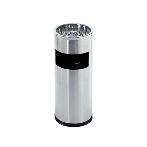 Bote de basura al aire libre Pattumiera Differenziata Da Giardino Colonna En Acciaio Inox Posacenere Con Rifiuti Può Fumare Colonna Ascensore Bocca Pubblico Sigaretta barril Bidone spazzatura Esterno