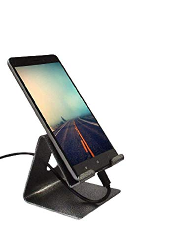 TUZECH Mobile Phone Metal Stand / Holder Multi-Angle For Smartphones and Tablet - Antique Silver Aluminum Desktop Stand Compatible With iPhone Xs Max Xr 8 7 6 6s Plus 5s Charging, Accessories Desk All Smart Phone
