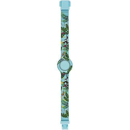Orologio HIP HOP BAMBINO KIDS FUN quadrante MONO-COLORE ALTRO e CINTURINO SILICONE AZZURRO HBU0859