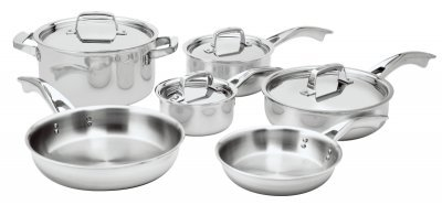 Zwilling J.A. Henckels TruClad Stainless Steel 10 Piece Cookware Set