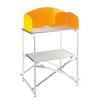 Table de Cuisine de Camping Table De Cuisine De Camp Pliante Portative Extérieure, Table De Camping Pliante avec Rangement pour La Fête De Plage De Tente Extérieure Tent60X48X80cm