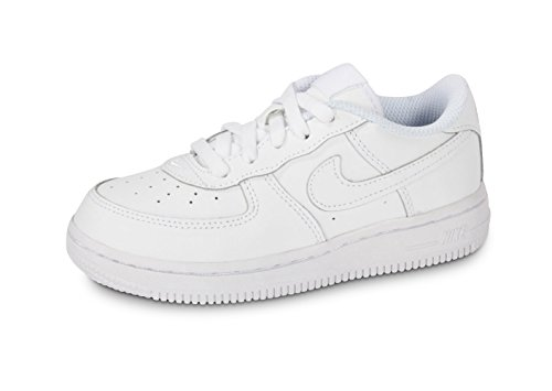 Nike Force 1 (TD), Sneakers Basses, Blanc (White/White-White 117), 19.5 EU