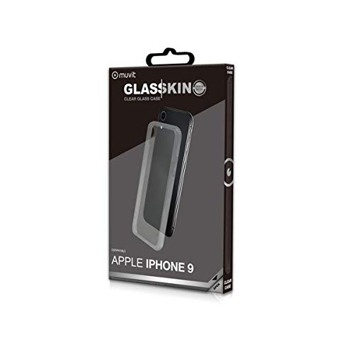 Muvit Skin - Carcasa para Apple iPhone XR (Vidrio Templado) Marco Transparente