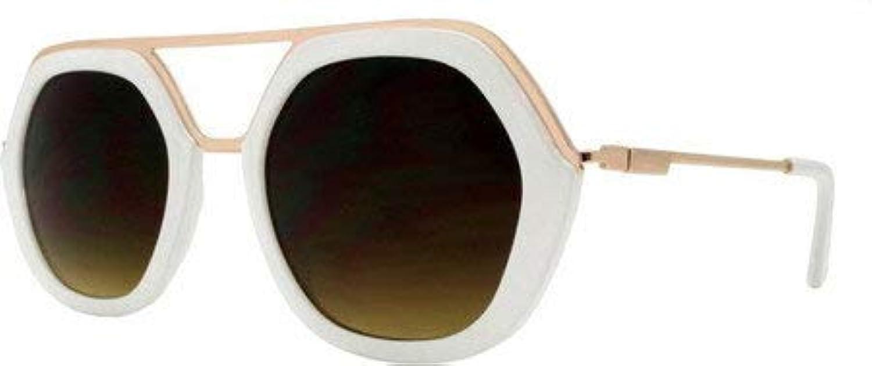 エスダブリュージー サングラス レディース High Fashion Matrix Frame Sunglasses SWGDY8100 White