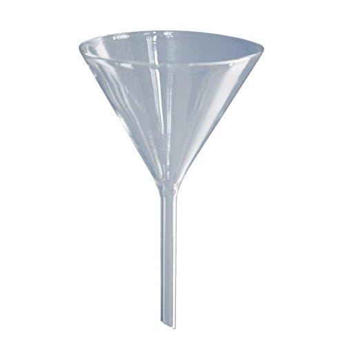 1 x Glastrichter Ø 100mm - Borosilikat 3.3-60° Winkel - Glas-Trichter - Trichter aus Glas - Labortrichter
