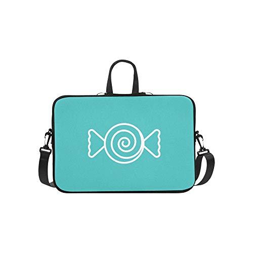 Laptop Umhängetasche Umhängetasche Tasche Notebook Griff Ärmel Neopren Soft Carring Tablet Reisetasche, süßer Kandiszucker Lutscher Pfefferminze Minze Laptop Handtaschen 14