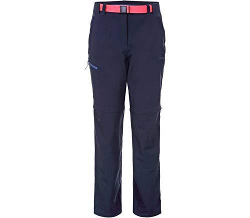 Icepeak Damen Wander-Trekking-Outdoor-Hose Abzipphose BLOCTON dunkel blau, Größe:42