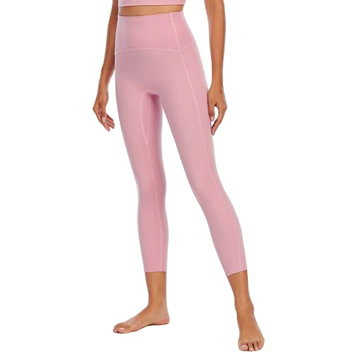 QTJY Pantalones de Yoga Suaves Sexis para Mujer, Leggings absorbentes de Sudor, Cintura Alta, Flexiones de Cadera, Pantalones de Entrenamiento para Celulitis G M